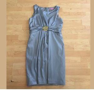 Eliza J silver Embellished satin dress size 14